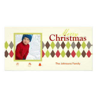 PixDezines Harlequin, Christmas Card