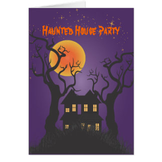 PixDezines Haunted Manson/purple, Halloween Card