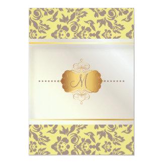 PixDezines Haute Couture Damask, Mauve Card
