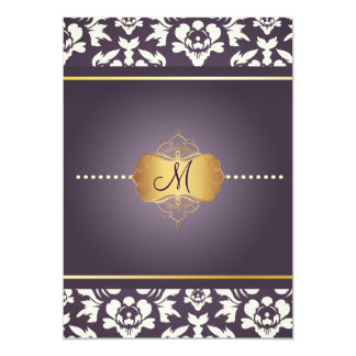 PixDezines Haute Couture Damask, Mother of Pearl Card