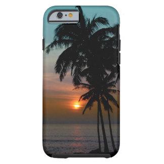 PixDezines Hawaii/puesta del sol/playa Funda Resistente iPhone 6