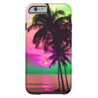 PixDezines hawaii/sunset/beach/fantasy Tough iPhone 6 Case