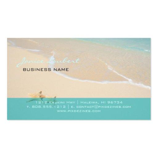 PixDezines Hawaiian Beach/DIY fonts Business Card