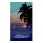 PixDezines Hawaiian Beach Sunset Business Cards