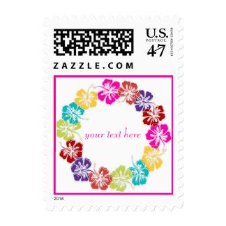 PixDezines Hawaiian Hibiscus Leis/DIY Postage Stamp