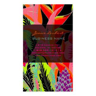 PixDezines Hawaiian Jungle 3 - custom background Business Card Templates