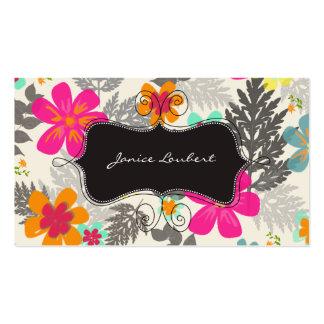 PixDezines Hawaiian Jungle Custom Background color Business Card