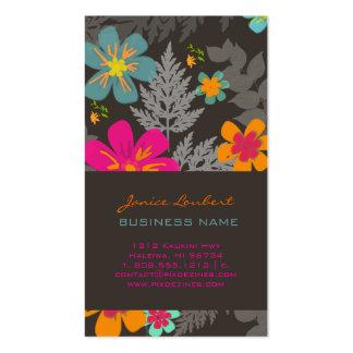 PixDezines Hawaiian Jungle/Custom Background color Business Card Templates