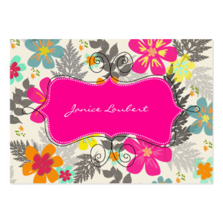 PixDezines Hawaiian Jungle/Custom Background color Business Card