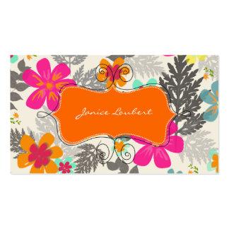 PixDezines Hawaiian Jungle diy Background color Business Card Template