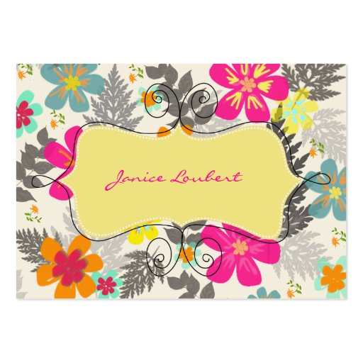PixDezines Hawaiian Jungle/DIY Background color Large Business Card