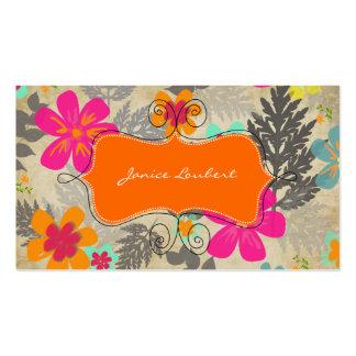 PixDezines Hawaiian Jungle/vintage background Business Card