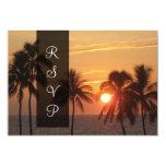 PixDezines Hawaiian rsvp sunset/mauna kea beach 3.5x5 Paper Invitation Card