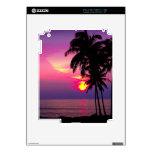 PixDezines hawaiian sunset Decals For The iPad 2