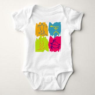 PixDezines Hawaiian Symbols Baby Bodysuit