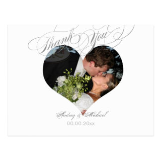 PixDezines Heart Photo Frame/Wedding Thank you Postcard