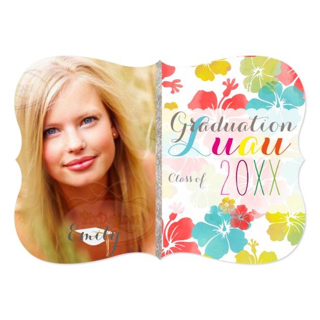 PixDezines hibiscus/2016/Grads/luau 5x7 Paper Invitation Card