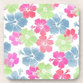 PixDezines hibiscus/diy background Beverage Coaster