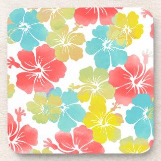 PixDezines hibiscus/diy background Coaster