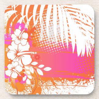 PixDezines hibiscus/DIY background color Coaster