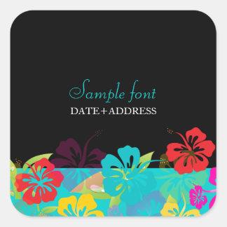 PixDezines hibiscus/diy background color Square Sticker