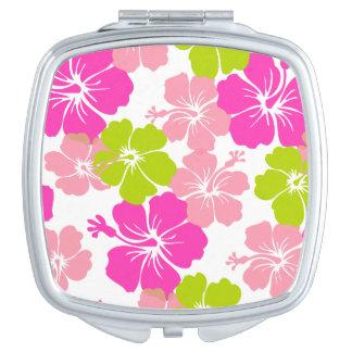 Pixdezines hibiscus/diy background vanity mirror