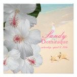 PixDezines Hibiscus Lei /beach/tropical wedding Announcement