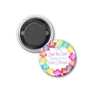 PixDezines hibiscus lei, Save the Date Fridge Magnets
