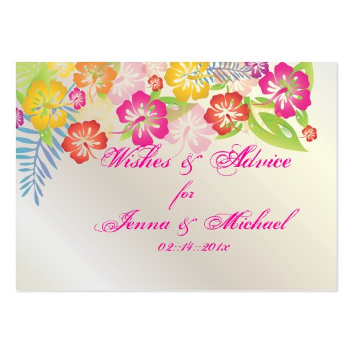 PixDezines Hibiscus Leis Wishes + Advice Cards Business Cards