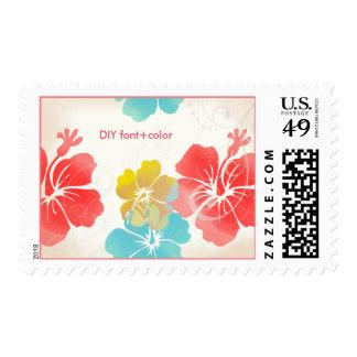 PixDezines Hibiscus/Luau/Orange/Blue/Yellow Postage