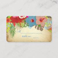 PixDezines hibiscus wishing well chubby biz cards