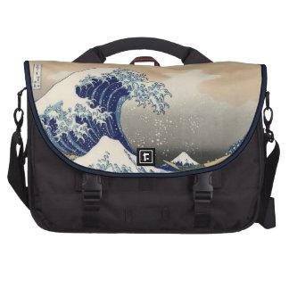 PixDezines hokusai great wave Laptop Bags
