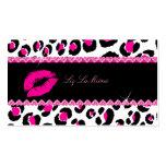PixDezines hot lips+sassy leopard Business Card