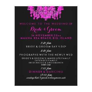 PixDezines hot pink chandelier wedding program Canvas Print