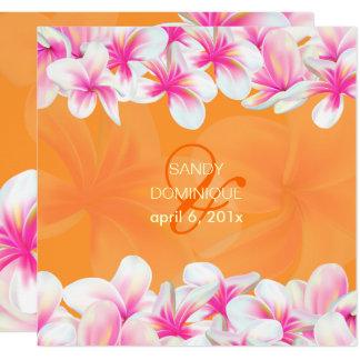 PixDezines hot pink plumeria/DIY background color Card