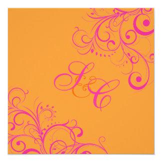 PixDezines Hot PInk Swirls/DIY background Card