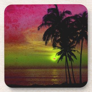 PixDezines hula sunset Beverage Coasters