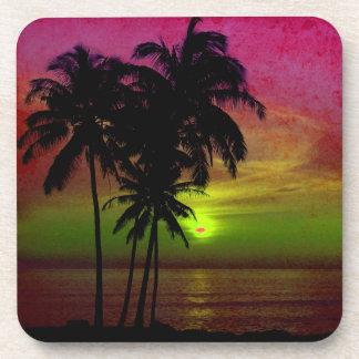 PixDezines hula sunset Drink Coasters