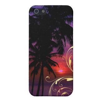 PixDezines hula sunset+swirls Cases For iPhone 5
