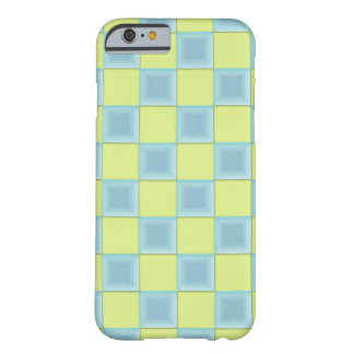 PixDezines Icy Blue+Green Checkers Barely There iPhone 6 Case