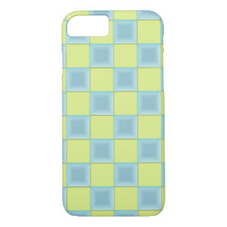 PixDezines Icy Blue+Green Checkers iPhone 7 Case