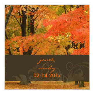 PixDezines in the woods, FALL WEDDING/DIY events Card