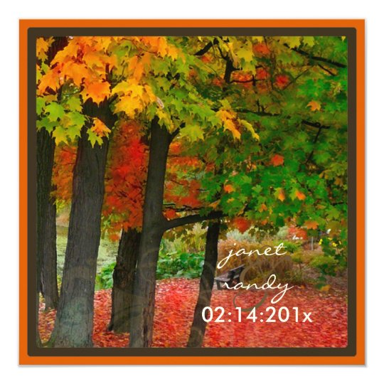 PixDezines in the woods, fall weddings/DIY events Card