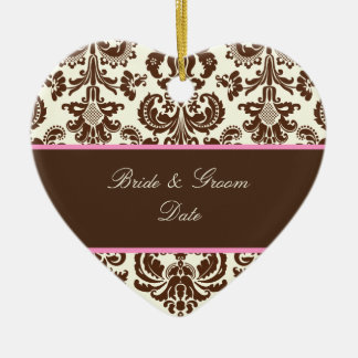 PixDezines Isabella Damask, Brown/DIY background Christmas Tree Ornament
