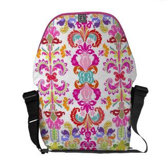 PixDezines Isabella Damask/DIY background color! Messenger Bags