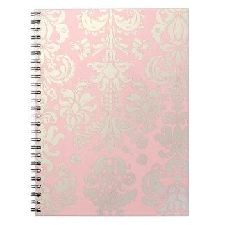 PixDezines Isabella Damask/DIY background color! Spiral Notebooks