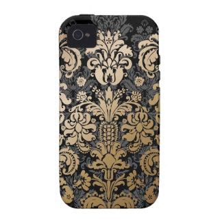 PixDezines Isabella Damask/Faux Copper/DIY color Vibe iPhone 4 Case