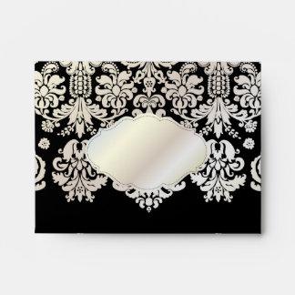 PixDezines Isabella Damask/Pearl/DIY/black Envelope