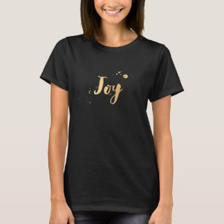PixDezines joy, faux gold brush T-Shirt