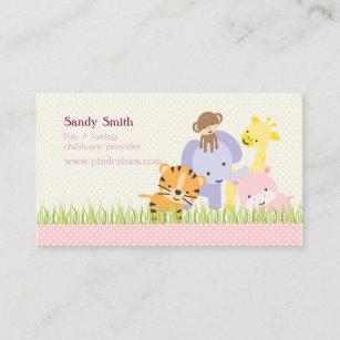 pixdezines jungle of fun daycare business card - Daycare Business Cards